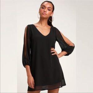 Lulus Black Shifting Dears Dress
